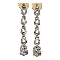 Antique Platinum & Diamond Dangler Earrings