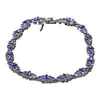 Lavender Colored Tanzanite Bracelet in White Gold