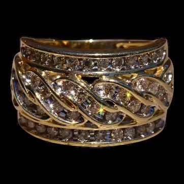 Vintage Ladies Diamond Cocktail Ring
