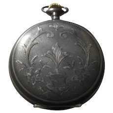 Large early Sterling Pocket Watch Case case only