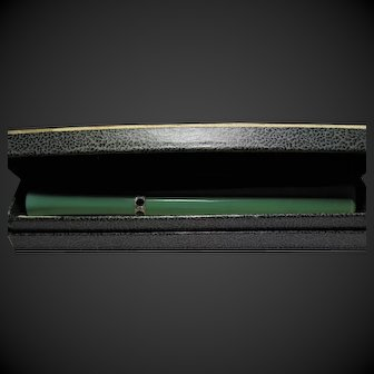 Mid century Ladies celluloid cigarette holder with rhinestone trim original box Cocktail length