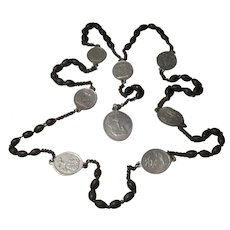 antique Servite Our Lady of Seven Sorrows Rosary Prayer Beads Stations