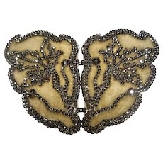 Fabulous antique large Cut Steel Butterfly Buckle