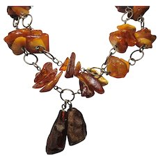 unusual vintage Genuine Baltic Amber chunks nuggets beads Necklace variations