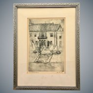 Tom Bullard's Black and White Drawing 'Aynesworth House' Ink and Graphite