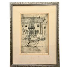 Ink and Graphite Drawing by Tom Bullard 'Aynesworth House'