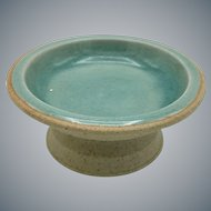 Vintage Siam Celadon Ash Glaze Small Footed Bowl