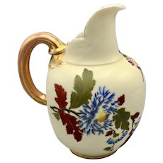 Early 1900s Robert Hanke Porcelain Ewer Vase Gilded Hand Painted