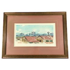 Cliff Segerblom (1915 - 1990) Original Watercolor of Nevada
