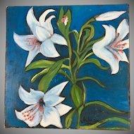 Vietnamese Artist Anh-Van Truong Modern Impressionism Still Life Painting Oil on Canvas