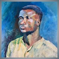 Original Portrait of a Young Man Oil on Canvas by Wilson Webb