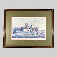 Fox Hunt Lithograph 'The Meet' after Painting by William Shayer