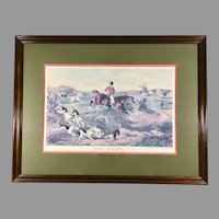 Fox Hunt Lithograph 'The Death' after Painting by William Shayer