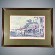 Fox Hunt Lithograph 'Returning From The Hunt' after Painting by William Shayer