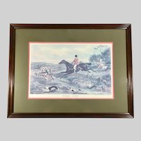 Fox Hunt Lithograph 'Full Cry' after Painting by William Shayer