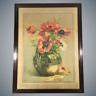 Early 20th Century Still Life of Red Poppies by Gustave Fraipoint (1849-1923)