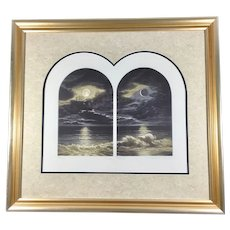 Susan Jameson Signed & Numbered Mezzotint 'Moon Tide IV' Framed