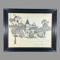 Helene Cundey Print of a House