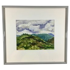 Watercolor Painting 'Rancho San Antonio' by Capps Signed and Dated