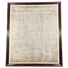 Othman Lithograph of Declaration of Independence Circa 1942 Numbered Framed