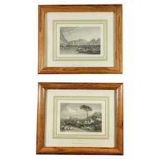 Vintage Prints Como and Ischia Landscapes from Italy Italy Magazine Framed Matted