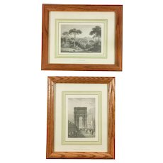 Vintage Prints Ancona and Bay of Naples Landscapes from Italy Italy Magazine Framed Matted