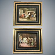 Pair of Framed Victorian Prints Lithographs after Margaret Dovaston (1884-1955) Paintings