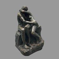 Vintage Mid Century Austin Prod Sculpture of Kissing Lovers