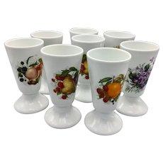 Set of 8 Limoges Dessert Parfait Porcelain Cups
