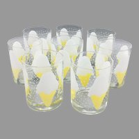 Set of 8 Vintage Mid Century Georges Briard Tumblers Glasses