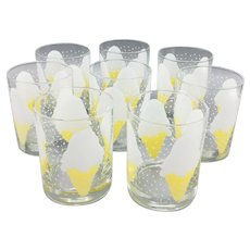 Set of 8 Vintage Mid Century Georges Briard Old Fashioned Glasses
