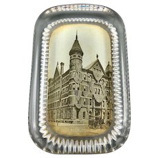 Antique Glass Paperweight with Photograph New York