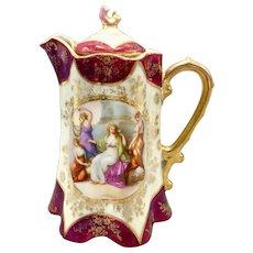 Antique Joseph Riedl Chocolate Pot Royal Vienna Style