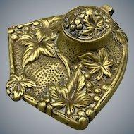 Ornate Brass Inkwell circa 1920s
