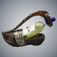 Vintage Wooden Shoe Bottle Holder