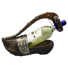 Vintage Wooden Shoe Bottle Holder