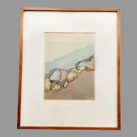Barbara Romney Multimedia Artwork Print 'Coast Near Lucia' Signed and Numbered 2/30