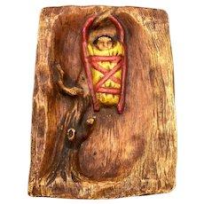 Ceramic Plaque Artwork of a Tree Signed
