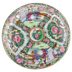 """Rose Medallion Chinese Porcelain Dinner Plate 10.5"""" Mandarin Style"""