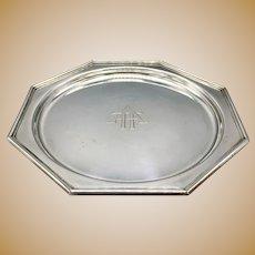 "Antique J.E. Caldwell Sterling Silver Art Deco Plate 6"""