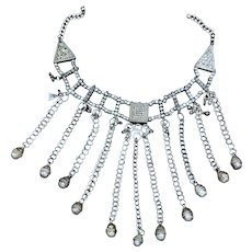 Yemeni Bedouin Necklace with Dangling Chains and Beads