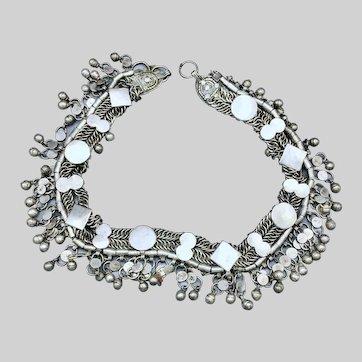 Yemenite Yemeni Bedouin Silver Chain Bridal Belt Necklace