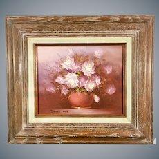 Robert Cox Still Life Flowers Oil Painting