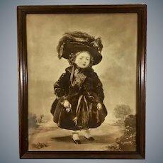 Queen Victoria Aged 4 Antique Mezzotint Print of Stephen Denning Portrait Painting