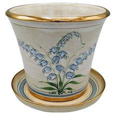 Ceramic Two-Piece Planter Pot by English Pottery Artist Gordon Fox