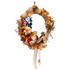 Wreath Artwork Vintage Seasonal Halloween Autumn Fall Door Decor