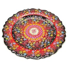 Turkish Yildiz Colorful Handmade Hand Painted Glazed Plate