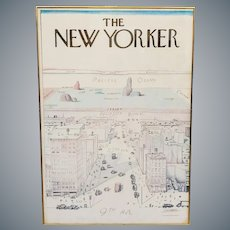 1976 Poster The New Yorker Saul Steinberg View of the World Cover