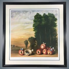 David Kroll Very Rare HC Lithographic Print Signed and Numbered Apples and Butterflies