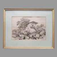19th Century Lithograph Jean Jacottet Painting